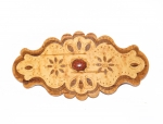 Hair barrette from birch bark, red stone