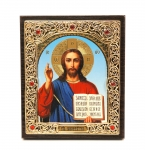 "Icon ""Jesus Christ""  10x12 cm, patterned frame"