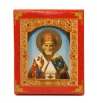 "Icon ""Nikolay Chudotvorets""  10x12 cm, patterned frame"