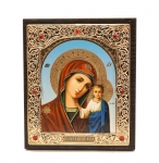 "Icon ""Holy Virgin Mary"" 10x12 cm, patterned frame"