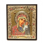 "Icon ""Holy Virgin Mary"" 10x12 cm, silver color"