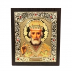 "Icon ""Nikolay Chudotvorets"" 15х18 cm, gold color"