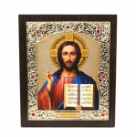 "Icon ""Jesus Christ""  15x18 cm, patterned frame"