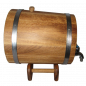 Preview: Oak barrel with underframe 10L, with tires made of stainless steel