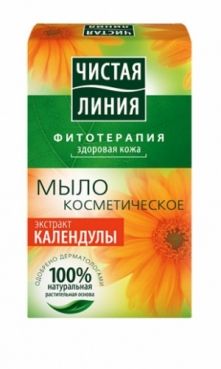 Cosmetic soap with calendula extract, 80g