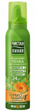 Foam for Hairstyling Thermal Protection, 150ml, Pure Line