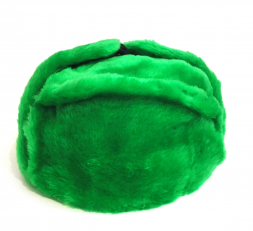Winter hat with earcaps, green without a cockade, USSR