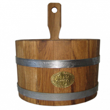 Bucket for sauna, 3L (oak),  with stainless steel tires