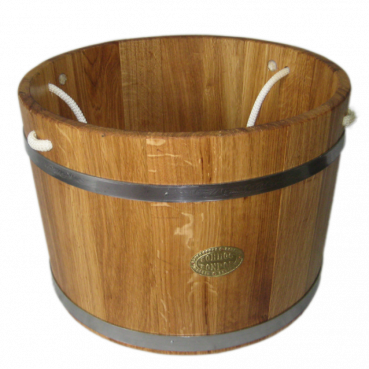 Bucket for sauna 35L, rope