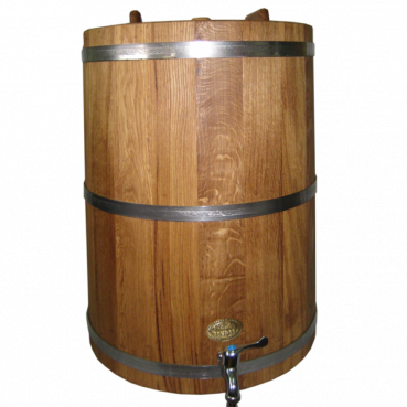 Barrel for drinks, 80L (oak), with tires made of stainless steel