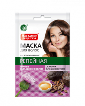 Haarmasque burdock, cocoa, egg yolk, 30 ml, FITO Cosmetic