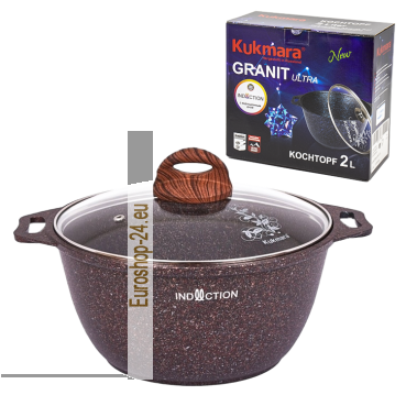 "Kochtopf mit Glasdeckel ""Granit Ultra Induction"" 2 L"