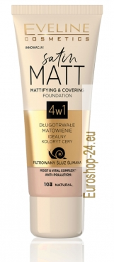 Satin MATT mattierendes Make-up 4 in 1 Natural, 30 ml