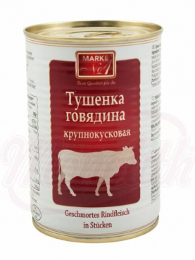 Braised beef in pieces, Tuschonka Marka No 1, 400ml