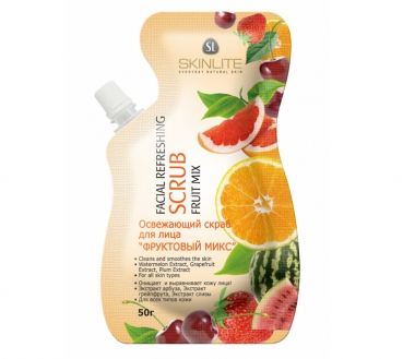 Refreshing facial scrub FRUIT MIX, Skinlite, 50ml