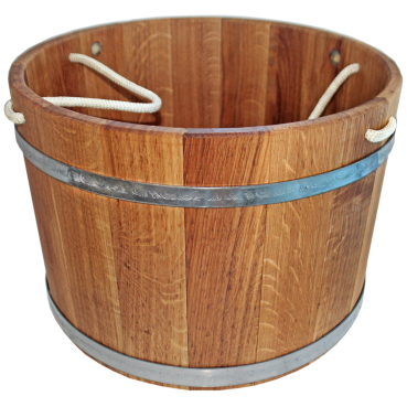 Bucket for sauna 23L, rope, with stainless steel tires