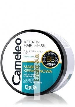 Cameleo Keratin Hair Mask with macadamia oil, hair volume, 200 ml