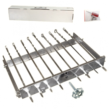 "Grill spit turners ""Sesam"", for 9 skewers, manually"