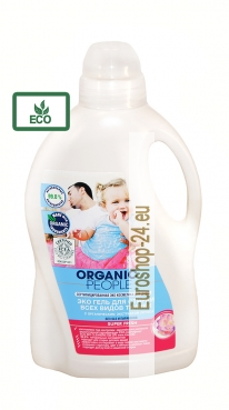 Eco gel for all types of textil, lotus extract, 1.5 l, Organic People