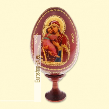 Easter egg with wooden icon of Vladimirskaya, 9 cm