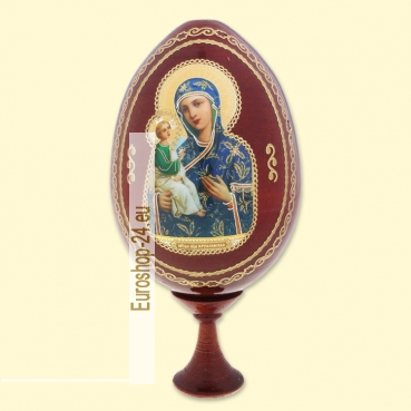 Easter egg with wooden icon Jerusalem, 9 cm