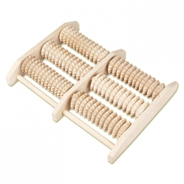 Wooden foot massage roller, 24 x 19,5 x 4cm