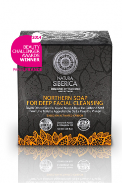 North soap, for deep cleansing of face skin, 120ml, Natura Siberica