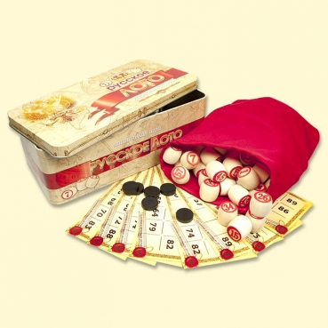 "Board game ""Russian Lotto"" in metal box"