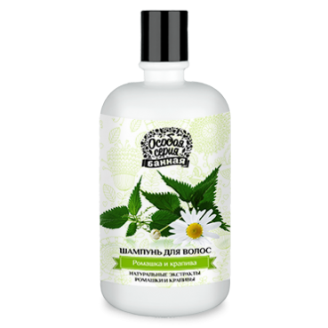 Shampoo with chamomile and nettle, 490ml, Special Series