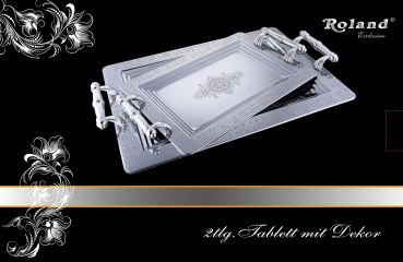 Set - zwei Tabletts 50,5x32,5x5cm + 40,5x25,5x5cm