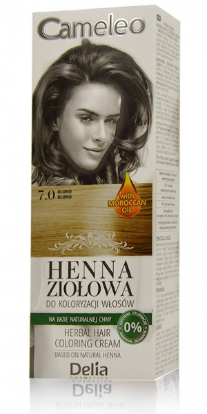 Hair Color Cameleo 7.0, henna cream, blond, 75g