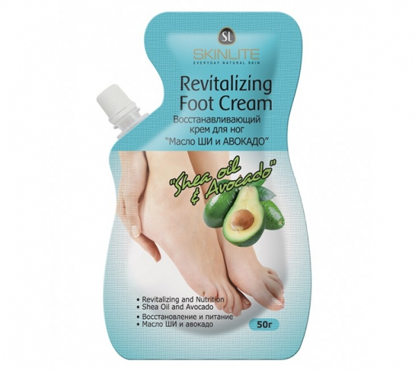 "Foot Cream ""Shea Butter and Avocado"", Skinlite, 50g"