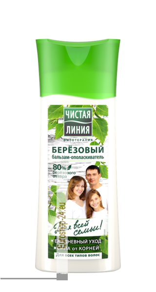 "Balsam Conditioner ""Birch"" for all hair types 230ml, pure line"