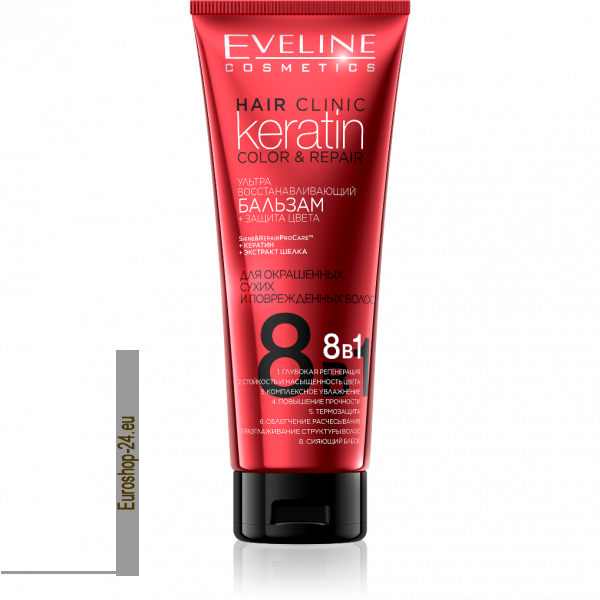 Eveline Hair Clinic Keratin stark aufbauendes Haar Conditioner  8 in 1, 250ml