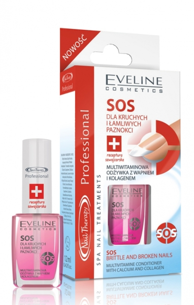 SOS nail care for fragile and brittle nails, 12ml