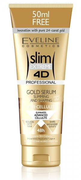 SlimExtreme 4D GOLD SERUM, Slimming and shaping, 250ml