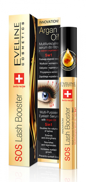 Eveline Eyelash Serum 5 in 1 with Argan Oil, 10ml