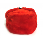 Winter hat with earcaps, red without a cockade, USSR