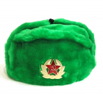 Winter hat with earcaps, green, USSR