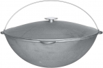 Cast iron camp Cauldrons 12 l, with handle and lid