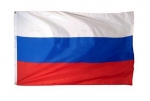 Flag Russia 90x150 cm, with two eyelets (rings)